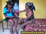 Watch these African Lesbians at the dress up party.