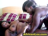 Busty Amateur Black Whores Having Fun With Dildo